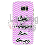Coffee Is Cheaper Than Therapy (pink) Phone Case - LadybugVinyls