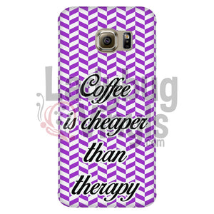 Coffee Is Cheaper Than Therapy (Purple) Phone Case Cases