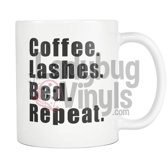 Coffee Lashes Bed Repeat 11Oz Mug Drinkware