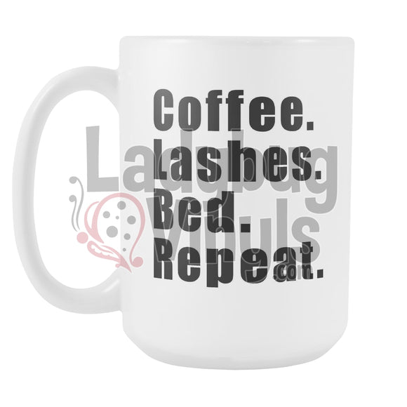 Coffee Lashes Bed Repeat 15Oz Mug Drinkware