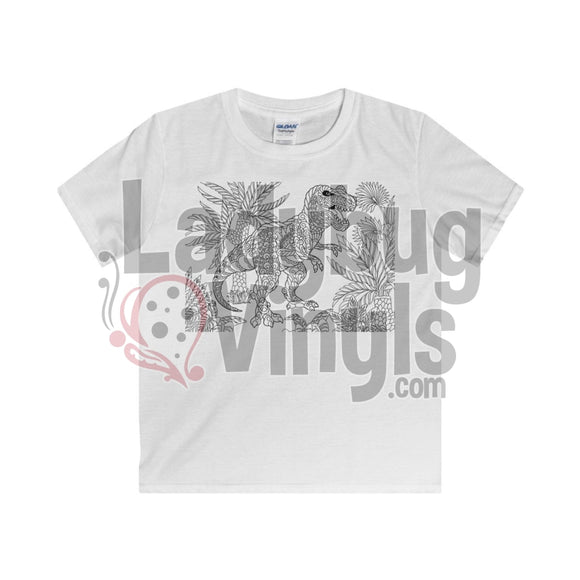 Color Me Dino Boy's T-Shirt - LadybugVinyls