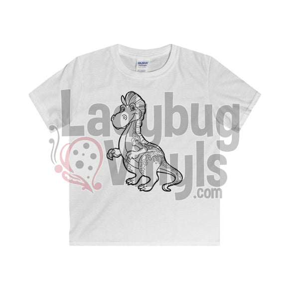 Color Me Dino Boys T-Shirt White / Xs Kids Clothes