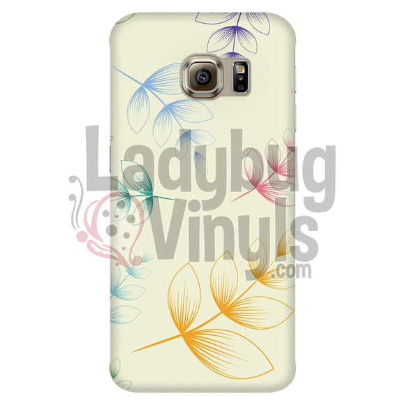 Colored Leaves Galaxy S6 Edge Phone Cases