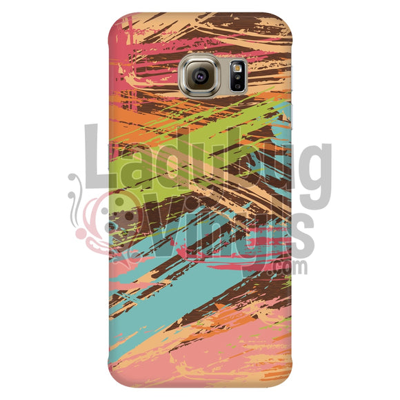Colored Slash Phone Case Galaxy S6 Edge Cases