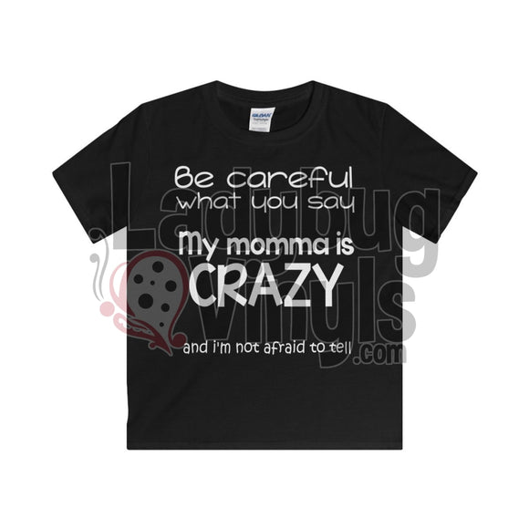 Crazy Momma Boy's T-Shirt - LadybugVinyls