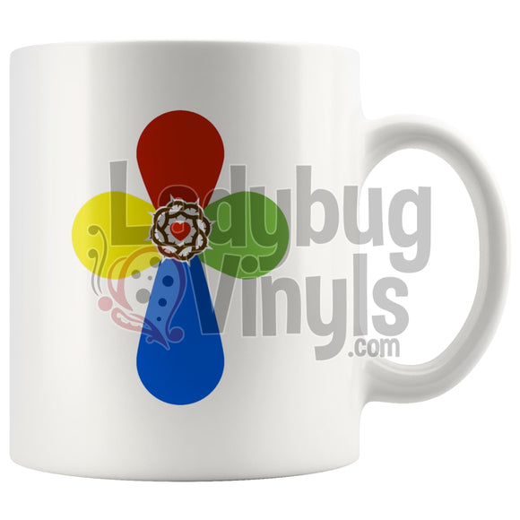 Cross 11oz Coffee Mug - LadybugVinyls