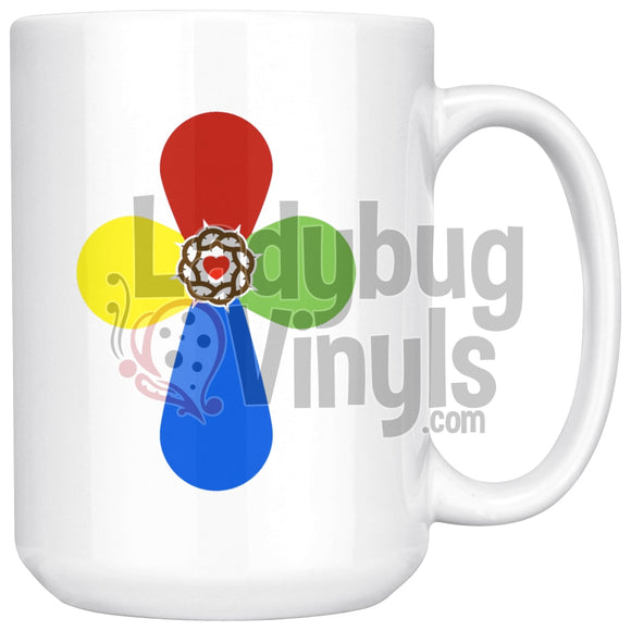 Cross 15oz Coffee Mug - LadybugVinyls