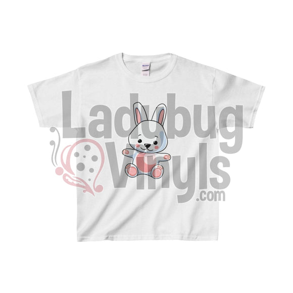 Cute Bunny Kids Heavy Cotton Tee White / L Clothes