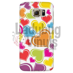 Cute Rainbow Hearts Phone Case - LadybugVinyls