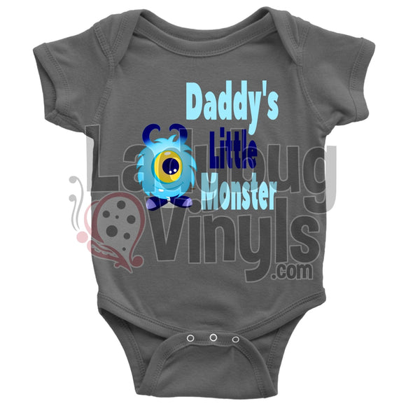 Daddy's Little Monster Onesie - LadybugVinyls