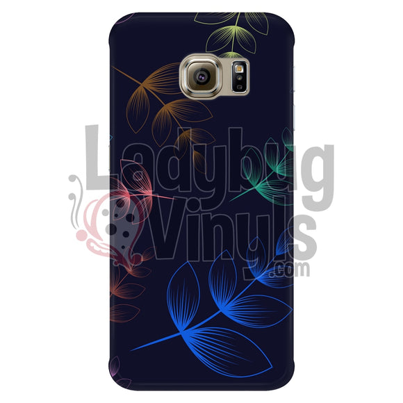 Dark Colored Leaves Galaxy S6 Edge Phone Cases