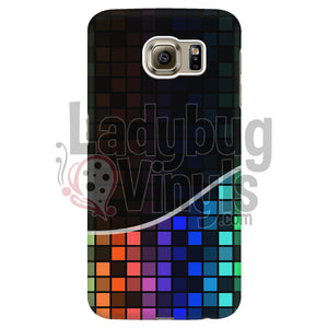 Dark Rainbow Grid Phone Case Galaxy S6 Edge Cases