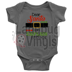 Dear Santa I Can Explain Everything Onesie - LadybugVinyls