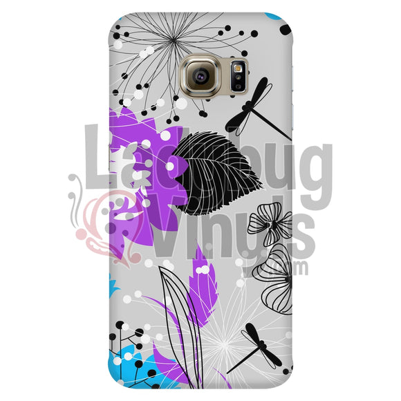 Dragonfly Flower Phone Case Galaxy S6 Edge Cases