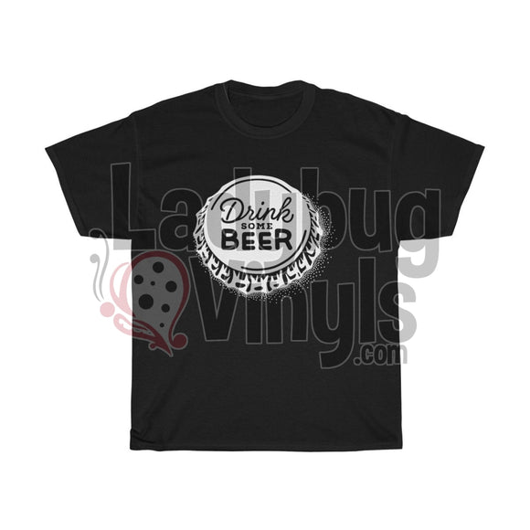 Drink Some Beer Mens T-Shirt Black / L