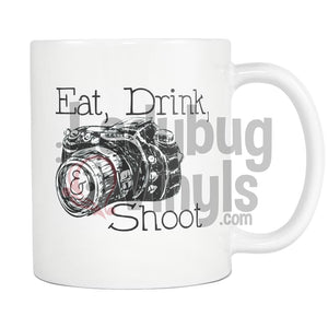 Eat Drink and Shoot Mug - LadybugVinyls