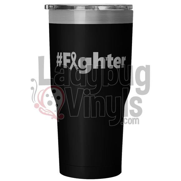Fighter 30Oz Tumbler 30 Ounce Vacuum - Black Tumblers