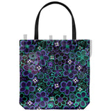 Flower Pattern Tote Bag - LadybugVinyls