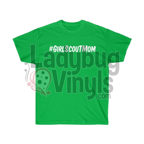 Girl Scout Mom Ultra Cotton T-Shirt Irish Green / L