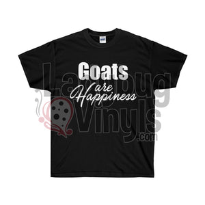 Goats Are Happiness Ultra Cotton T-Shirt Black / L