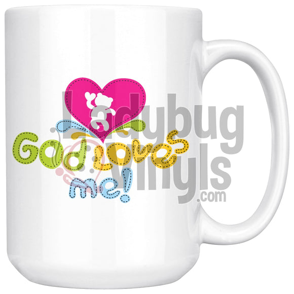 God Loves Me 15Oz Coffee Mug Drinkware
