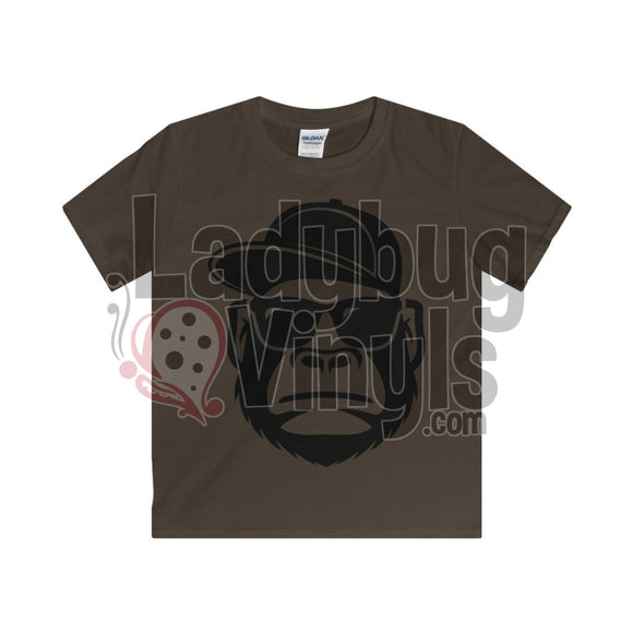 Gorilla With Hat Boys T-Shirt Dark Chocolate / Xs Kids Clothes