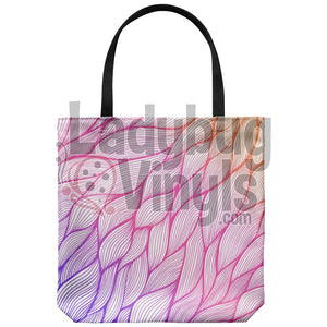 Gradient Feather Tote Bags - LadybugVinyls