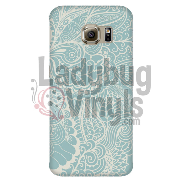 Green Lace Phone Case Galaxy S6 Edge Cases