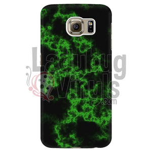 Green on Black Marble Phone Case - LadybugVinyls