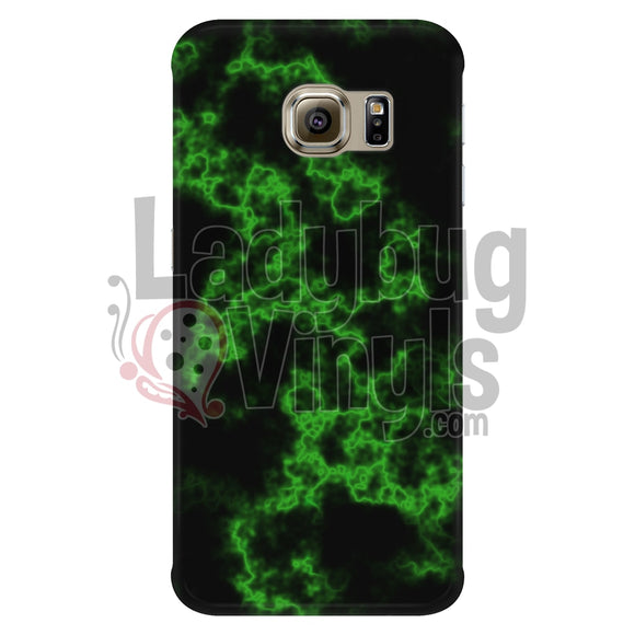 Green On Black Marble Phone Case Galaxy S6 Edge Cases