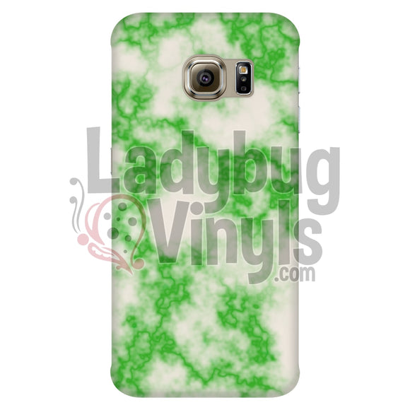 Green On White Marble Phone Case Galaxy S6 Edge Cases