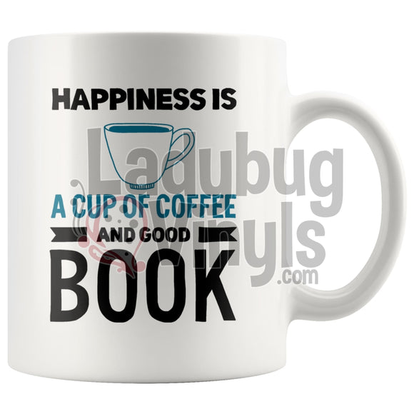 Happiness Is Coffee And A Good Book 11Oz Mug And Drinkware