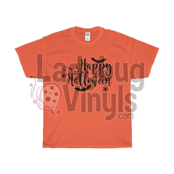 Happy Halloween Mens T-Shirt Orange / L
