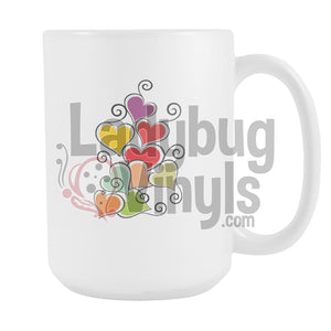 Heart Cluster 15Oz Mug Drinkware