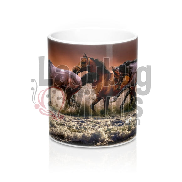 Horses All Over Print 11Oz Coffee Mug