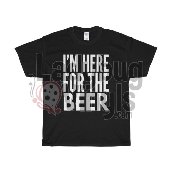 Im Here For The Beer Mens T-Shirt Black / S