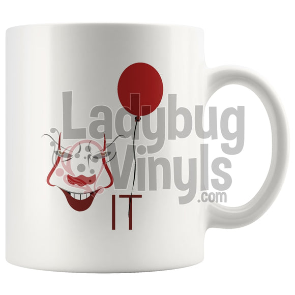 It (white) 11oz Coffee Mug - LadybugVinyls