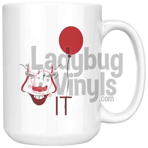 It (white) 15oz Coffee Mug - LadybugVinyls