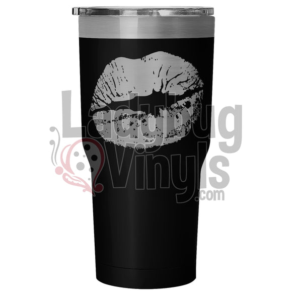 Lips 30Oz Tumbler 30 Ounce Vacuum - Black Tumblers