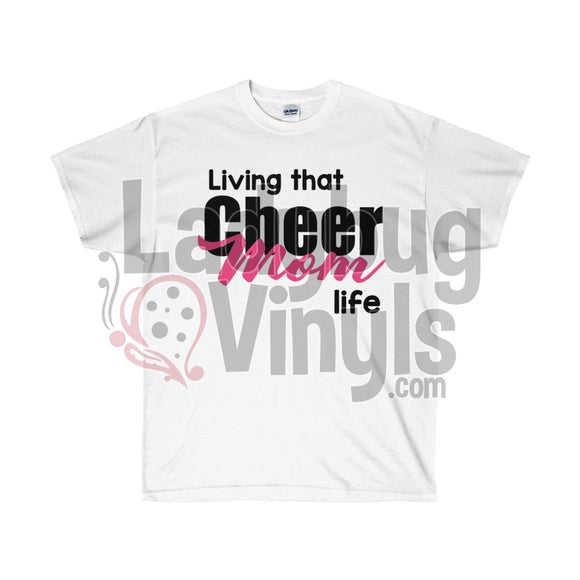 Living That Cheer Mom Life Ultra Cotton T-Shirt White / S