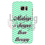 Makeup Is Cheaper Than Therapy (green) Phone Case - LadybugVinyls