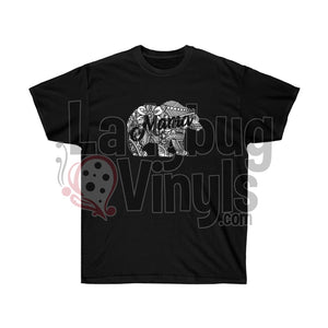 Mandala Mama Bear Ultra Cotton T-Shirt Black / L