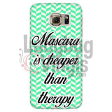 Mascara Is Cheaper Than Therapy (green) Phone Case - LadybugVinyls
