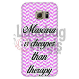 Mascara Is Cheaper Than Therapy (pink) Phone Case - LadybugVinyls