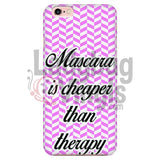 Mascara Is Cheaper Than Therapy (Pink) Phone Case Iphone 7/7S Cases