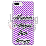 Mascara Is Cheaper Than Therapy (Purple) Phone Case Iphone 7 Plus/7S Plus Cases