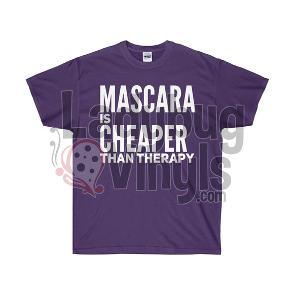 Mascara Is Cheaper Than Therapy Ultra Cotton T-Shirt Purple / S
