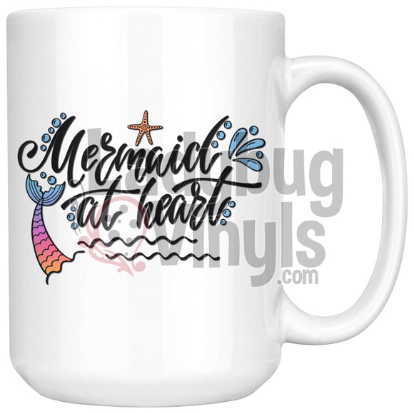 Mermaid At Heart 15oz Coffee Mug - LadybugVinyls
