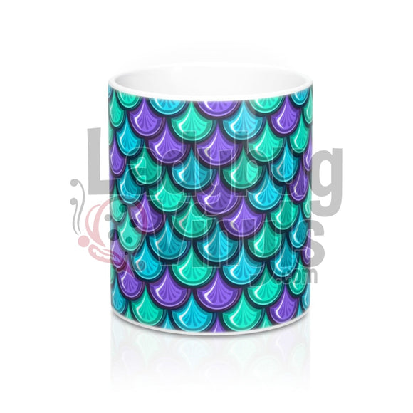 Mermaid Scales All Over Print 11Oz Coffee Mug