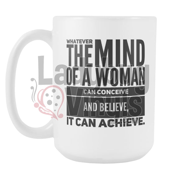 Mind of A Woman 15oz Coffee Mug - LadybugVinyls